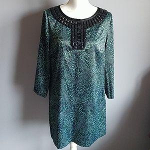 Michael Kors Printed Satin Tunic / Mini Dress